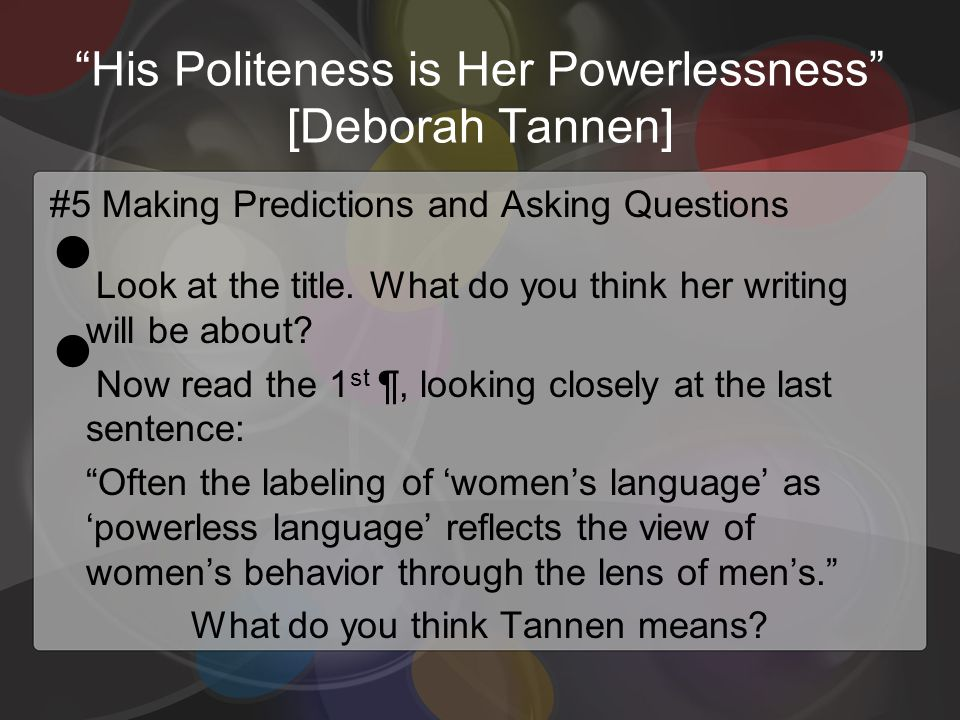 thesis on politeness and gender This dissertation is my original work and has not been presented for a  2) to  determine how gender and setting influence the use of politeness strategies in.